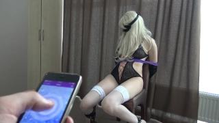 Bondage & fun with LELO remote control vibrator to orgasm Figure big