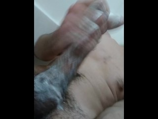 Milking big fat long hard cock
