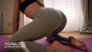 THANK YOU FOR 2017! Yoga pants, deepthroat, hard fuck and huge load on body By daughter
