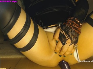Inserting Stretching Gaping the GreenSissifiedCyber Goth Boypussy