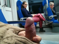 : Stranger Jerked and suck me in the train