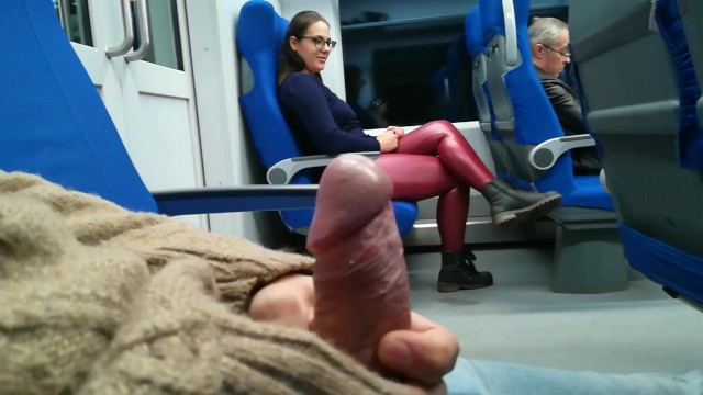 Free amature voyeur Stranger jerked and suck me in the train