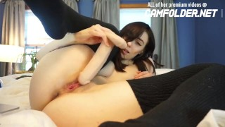 Cute Emo Teen Plays With Butt Plug & Fucks Her Pussy Tits burgher
