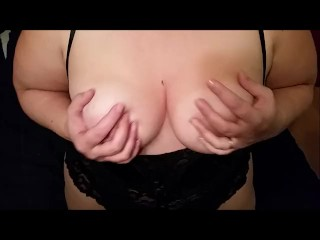 MILF takes break from reading to give JOI and take cumshot on tits - POV