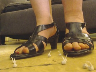 Feet & Fireworks New Year!! Heels, Crush, Giantess