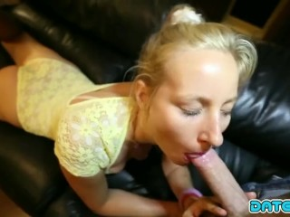 Curvy Blonde Babe Kiki Picked-Up Online and Fucked