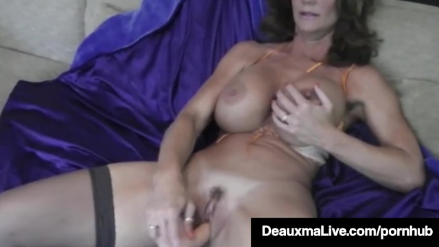 Hot Blooded Cougar Deauxma Dildo Fucks Her Pussy & Squirts! 2