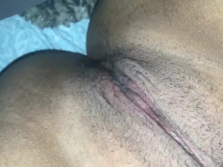 Rubbing my throbbing pussy. Need big dick in this pussy