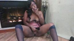 black slut orgasm