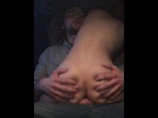 Hot Teen gets Creamy Facial, Fucked Hard In the Car During a Blizzard