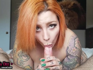 Hot Curvy Ginger Dahlia Dee Epic Blowjob and Rimming