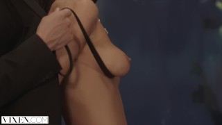 VIXEN Ariana Marie and her Friend Are Dominated By Huge Cock