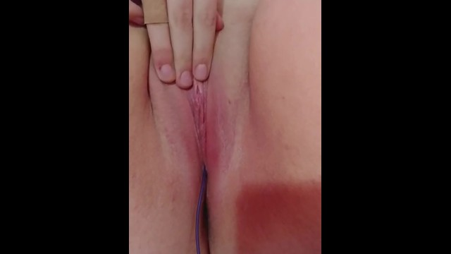 Rubbing my pussy with a vibe in me 20