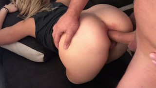 Blonde Teen Takes Huge Cock IN HER ASS HARD ANAL ORGASM-Image