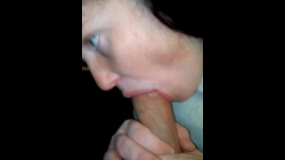 Sucking cock and moaning!