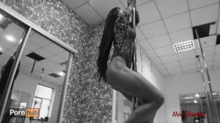 Beautiful teen hot pole dancing and anal to throat fucking. Mia Bandini