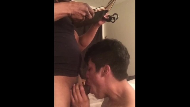Gay sex face in hole Twink slut takes raw bbc up his tight hole