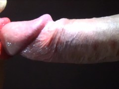 Horny girl takes cumshot from blowjob!