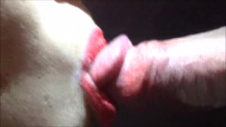 Horny girl takes cumshot from blowjob! Hd euro