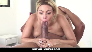 SheWillCheat Blonde Latina Cuban Wife Loves Fat Black Cock
