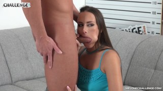 Huge dick riding Mea Melone's juicy pussy & cum in her mouth