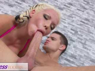 Fitness Rooms Wrestling lesson standing 69 rough fuck for British blonde