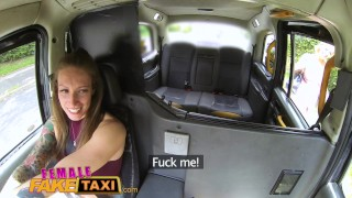 Female Fake Taxi Busty blondes hot lesbian back seat taxi fuck session porno