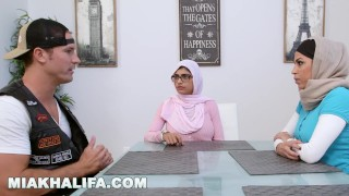 MIA KHALIFA - Featuring Big Tits MILF Julianna Vega... With Cum Shot!  big tits big cock miakhalifa hijab best porn lebanese cum big dick busty taboo muslim latina threesome arab mia khalifa big boobs commentary controversial