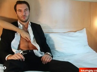 Martin French straight guy's cock gets wanked in spite of him.