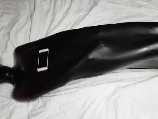Miss Perversion Trapped, Teased & Breath Controlled in a Latex Sleepsack!