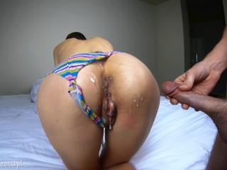 Late Night Quickie – Huge Cumshot all over my girlfriend's ass