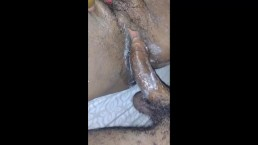 Goid creamy wet pussy with creampie