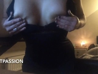 Extremely Sexy Black Nightie Tease. I Had To Play With My Pussy