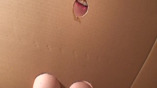 DIY Homemade Gloryhole! Britney's Private Gloryhole Swallow. Build your own