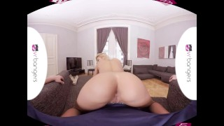 VR PORN - Cherry Kiss Takes a Big Dick in Her Ass and Wet Pussy
