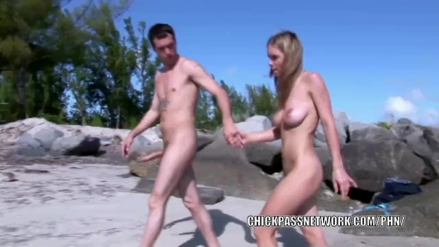 Horny blonde Ivana Branchi is getting nailed on the beach 18