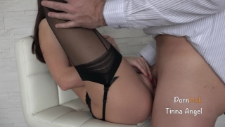 Secretary Fucked By Her Boss, Squirt, Creampie Sensual licking