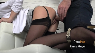 Secretary Fucked By Her Boss, Squirt, Creampie Fuck tits
