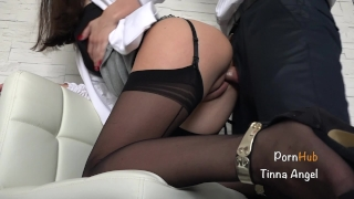 Fucked boss squirt her secretary by creampie petite squirting