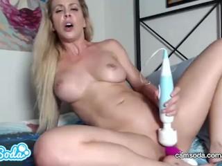 Cherie DeVille blonde big tits MILF masturbating till huge orgasm.