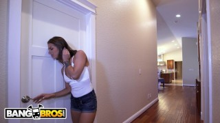 BANGBROS - Step Sister Evelin Stone Catches Juan El Caballo Loco Jerking Of Shaved mother