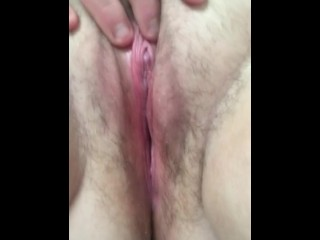 Fingering my wet pussy at work