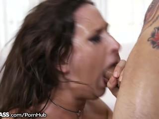 Ashley Adams gives Extreme Blowjob!