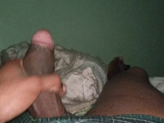Jacking off at home