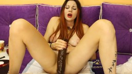 """Moon Christine makes another crazy squirt with big brown """"friend"""""""