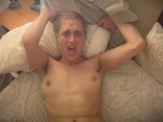 Mature Sexy Hippie Screaming & Crying While Fucking BF with Big Dick (POV)