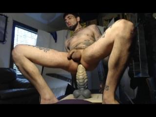 Massive Bad Dragon and handmade dildo up Sexy Studs STr8 Hot Hole