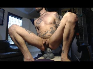Massive Bad Dragon and handmade dildo up Sexy Studs STr8 Hot Hole