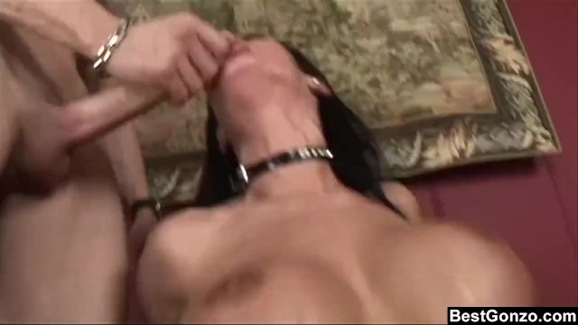 Busty Tattooed Babe gets fucked by Black and White cocks 4