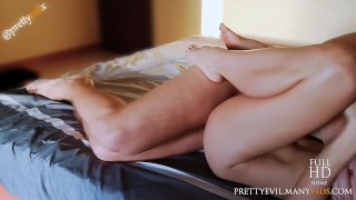 Morning Passionate Couple Sex Lovemaking Missionary Cum on Belly